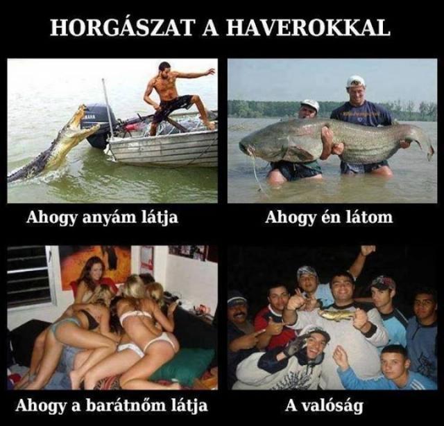 Horgászat a haverokkal